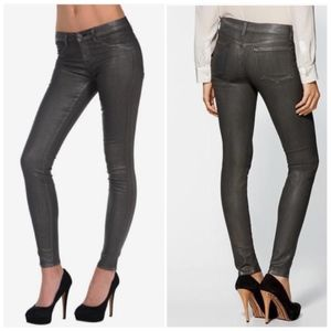 J Brand Metallic Finish Super Skinny Jeans